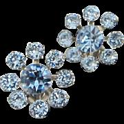 Radiant Light Sapphire Blue Rhinestone Earrings