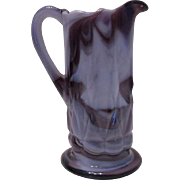 Vintage Purple Slag Pitcher, Imperial Glass Company