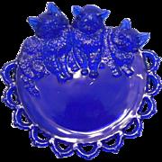 Cobalt Blue Westmoreland Three Little Kittens Nursery Rhyme Plate
