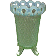 Imperial Glass Light Green Footed Vase