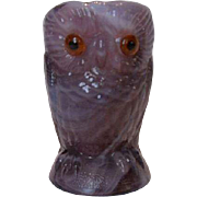 Imperial Glass Purple Slag Double Owl Toothpick Holder