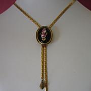 Goldette Romantic Floral Slide Necklace