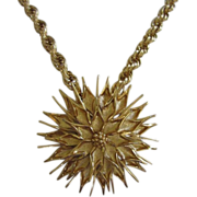 Fabulous MONET Large Flower Medallion Necklace