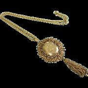 Ornate FLORENZA Gold Tone Locket Necklace