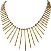 Monet Egyptian Revival Gold Tone Bib Necklace