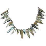 Abalone Shell Teardrop Necklace