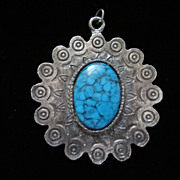 REDUCED Vintage Southwestern Style Faux Turquoise Pendant ~ 50% OFF!