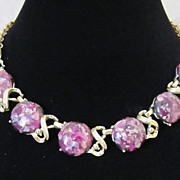 REDUCED 1/2 OFF!  Vintage Purple Confetti Lucite Choker Necklace