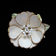 REDUCED Vintage Corocraft Enamel Flower Brooch Pin circa 1940's