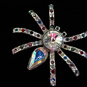 REDUCED Vintage Rhinestone Spider Figural Pin Brooch ~ 1/2 OFF!!!