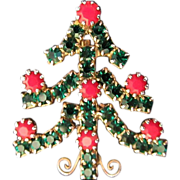 REDUCED 1/2 OFF! Petite and Sparkling Rhinestone Holiday Christmas Tree Pin