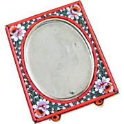 Vintage Italian Micro Mosaic Petite Picture Frame