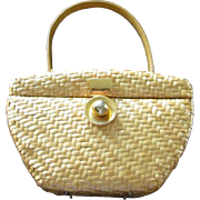 Vintage Koret Natural Wicker Purse