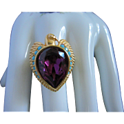 REDUCED Elizabeth Taylor for Avon Egyptian Falcon Ring, Size 12 ~ REDUCED!