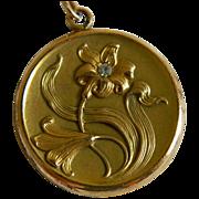 Art Nouveau S & B Lederer Co. Locket  Early 1900's