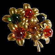 SALE Vintage Czech Glass Brooch
