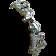 SALE Vintage Silver Tone Western Slider Bracelet