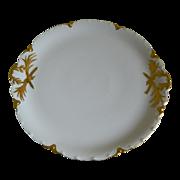 Haviland Limoges Large Round Footed Serving Platter with Handles