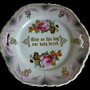 Beautiful Bavarian Lusterware Cake Plate Early 1900's