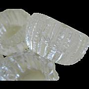SOLD Set of 8 American Brilliant Prism Zipper Cut Glass Salt Cellars 1872 - 1920