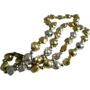 Dobbs of Boston Sterling Brushed Silver Beaded Necklace