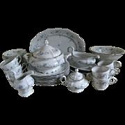 SALE Vintage Johann Haviland China Bavaria  53 Piece Set