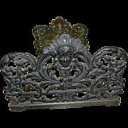 SALE Antique Art Nouveau Metal Expandable and Collapsible Bookends,  1880's - 1910's