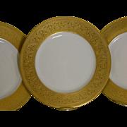 Set of 8, Lenox  Gold Encrusted Plates, Made Expressly for Ovington Bros.New York, 1914
