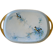 SOLD RESERVED for P. Schultz Haviland Limoges, Hand Painted, Artist Signed, Dresser Tray, 1918