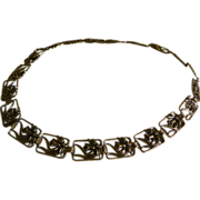"SALE Vintage Art Nouveau Styled Metal Belt, 33"" Length"
