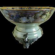 SALE Antique Limoges France Punch Bowl with Unique Plinth