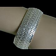 Beautiful Sterling Silver Filigree Bracelet, Italy