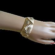 Unique Brushed Gold Tone Chunky Bracelet, 1960's