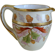 SALE Antique Hand Painted, Signed Cider Pitcher by the Julius H. Brauer Studio, Chicago, 1903