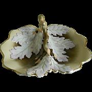 SALE Antique Carl Tielsch Large Oak Leaf Bowl, 1850 -1899