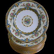 Minton, England, Set of 10  Plates, 1936 - 1939
