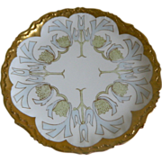 Bawo & Dotter Elite Works Limoges, France Hand Painted Plate,  1920 -1932