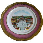 Set of 6 Florentine Plates From Nando's Restaurant, Palm Beach, Florida, 1970's