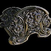SALE Antique Art Nouveau Metal Expandable Book Rack
