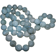 Green Kyanite Beaded Necklace, 1960's