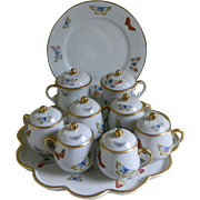 Limoges France Pots de Creme Set
