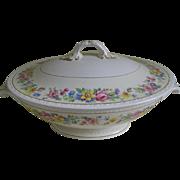 SALE Vintage Egg Shell Georgian Homer Laughlin, Rose Lane Covered Bowl