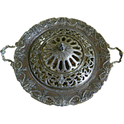 Meriden Britannia Co. International Silver Co. Silver Plated Centerpiece with Frog Cover, 1898