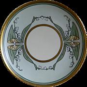 Haviland Limoges Hand Painted Plate Artist Signed, Jennings, For Ogden's Department Store, 189