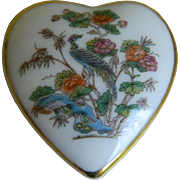 Wedgwood Bone China England Keepsake Heart Shaped Box, 1983