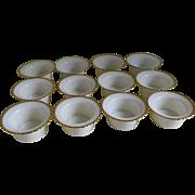 Set of 12 Custard Cups, 1920's -1930's