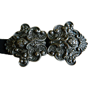 SALE Antique Art Nouveau Metal Belt Buckle