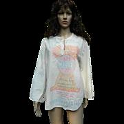 SALE Farines Phenix Flour LTD, Montreal Flour Sack Shirt, 1960's -1970's