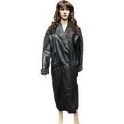 Pelle Studio  Women's Black Leather and Suede Trench Coat, 1990