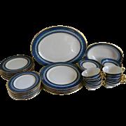 SALE Vintage Theodore Haviland China Mosaic Cobalt Blue, New York 45 Piece Set